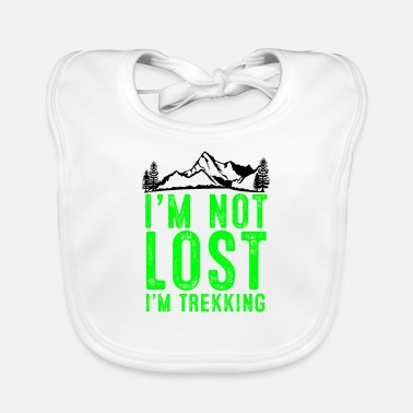 Skies I am not lost, I am hiking - Baby Bib