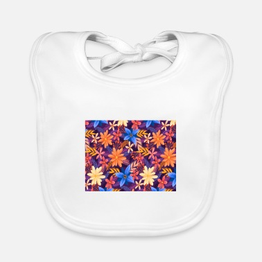 Colorful Leaves Colorful Leaves - Baby Bib