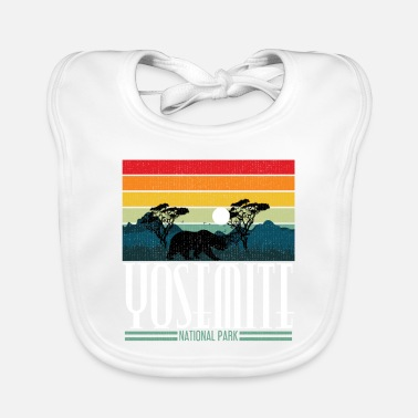 Helped Dome Yosemite National Park California Bear Gift - Baby Bib