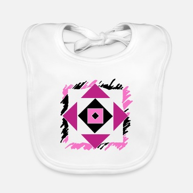 Having Fun Pink abstract art - Baby Bib