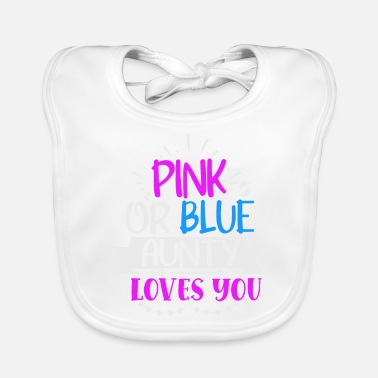 Umstandsmode Pink or blue aunty loves you - Lätzchen