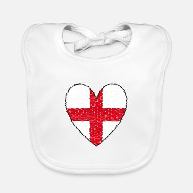 London England Heart UK - Baby Bib