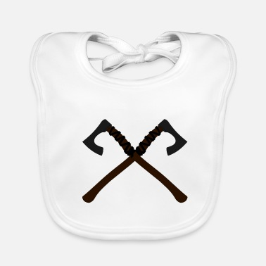 Leather Viking ax 3fb - Baby Bib