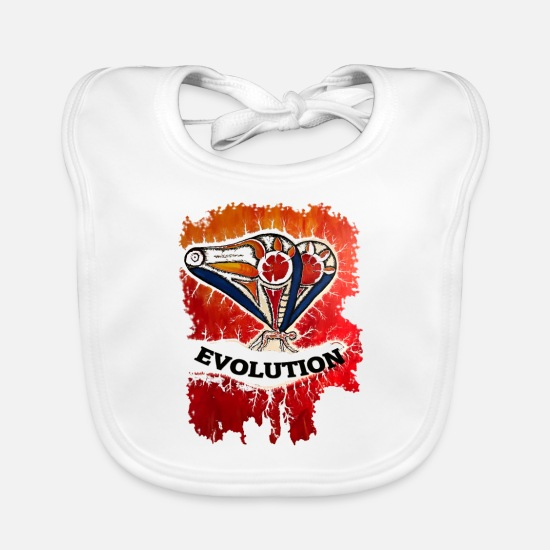Birthday Baby Clothes - evolution - Baby Bib white