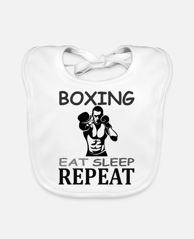 I Play Boxing Baby Bibs - Boxing Boxing Match Boxer Boxport Gift Knock Out - Baby Bib white