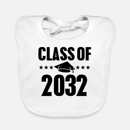 Growl Baby Clothes - Class of 2032 - Baby Bib white