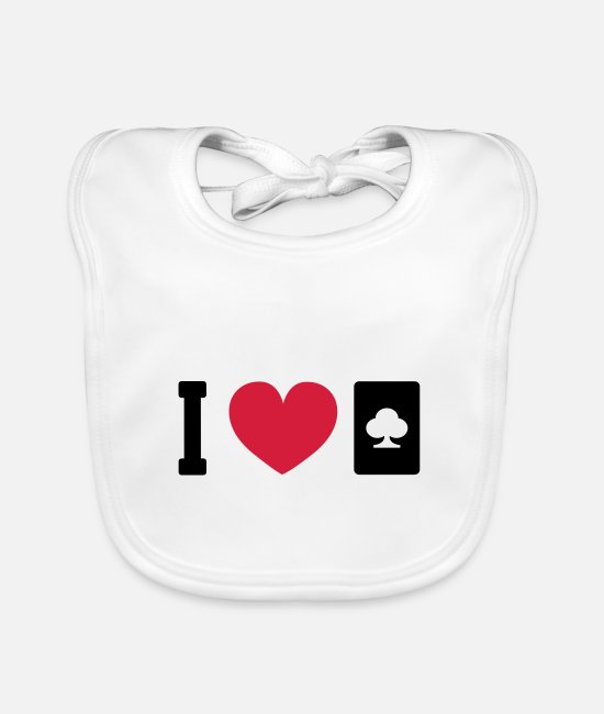 Poker Baby Bibs - Cards Players Card Games Poker Gift - Baby Bib white