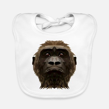 Wear Sad monkey geometric low poly - Baby Bib