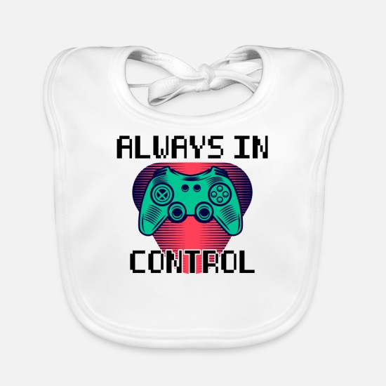 Play Baby Clothes - Always In Control - Baby Bib white