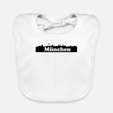 Mouth Munich skyline - Baby Bib