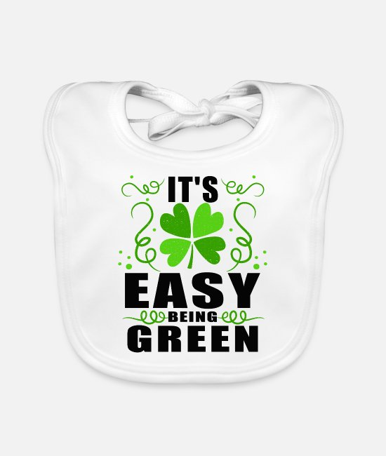 Protest Baby Clothes - It's easy being green - Baby Bib white