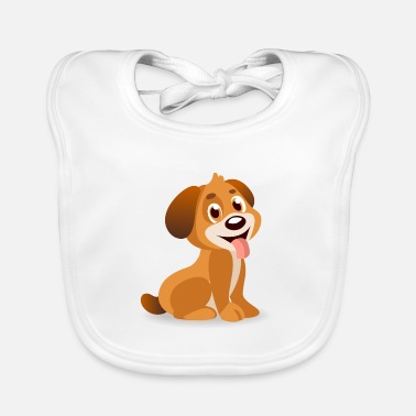 Dog Cartoon Cartoon dog - Baby Bib