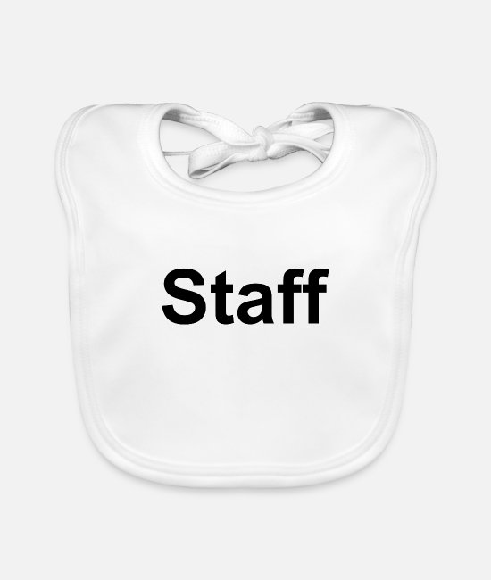 Team Baby Bibs - Staff - Baby Bib white