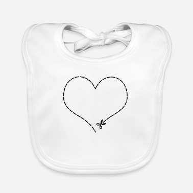 Cut Out Heart to cut out - Baby Bib