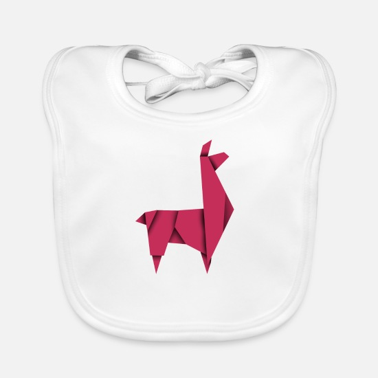 Origami Baby Clothes - The Origami Lama - Baby Bib white