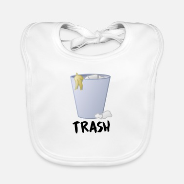 Trash Can Trash trash can garbage banana peel - Baby Bib