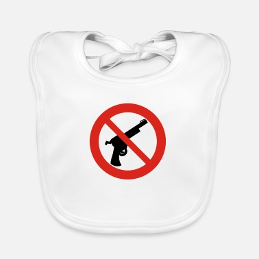Weapons prohibition sign - Baby Bib