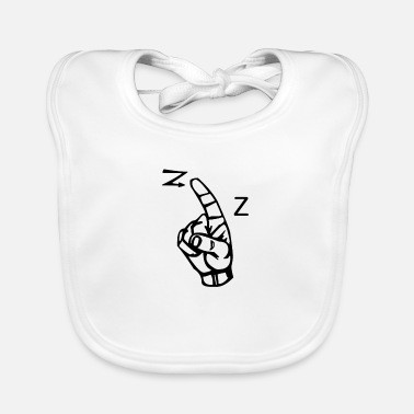 Letter A letter with sign language - Baby Bib