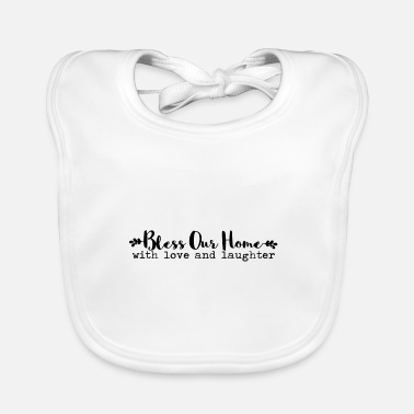 Bible BLESS OUR HOME GIFT CHURCH GOD JESUS FAITH R - Baby Bib