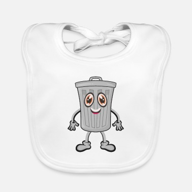 Trash Can Garbage trash can - Baby Bib