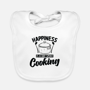 Housewife Happiness is A Day Spent Cooking Cooking - Baby Bib