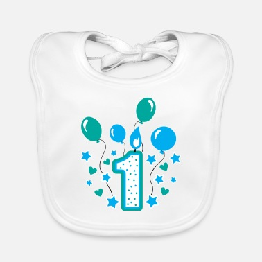 first birthday 1st birthday one year gift - Baby Bib