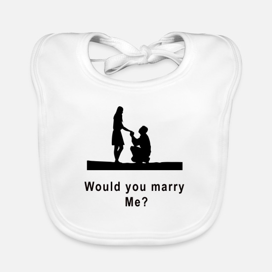 Marriage Equality Baby Clothes - marriage proposal - Baby Bib white