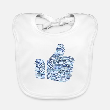 Positive and warm word cloud - Baby Bib