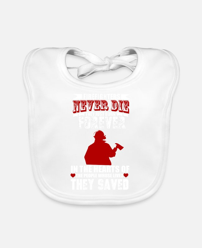 Fire Department Baby Bibs - Firefighters firebrigade fire defense defender new ho - Baby Bib white