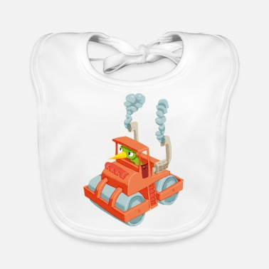Vehicle Caterpillar in a vehicle - Baby Bib