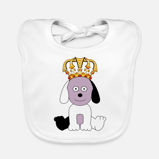 Dog Owner Baby Clothes - A small dog a sweet frat - Baby Bib white
