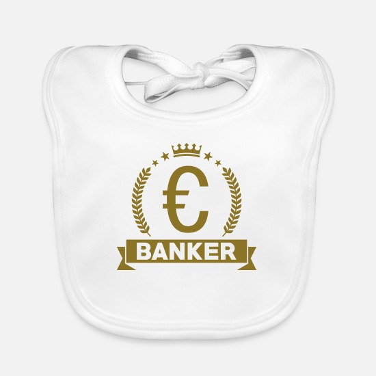 Bank Baby Clothes - Banker - Baby Bib white