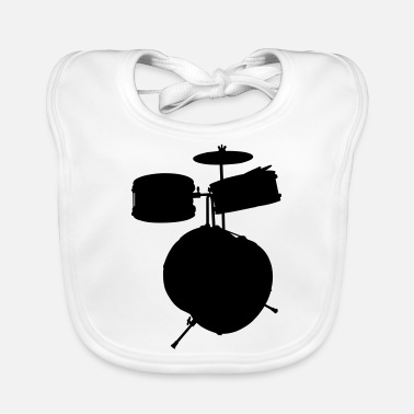 Drum Set music drums drum set - Baby Bib
