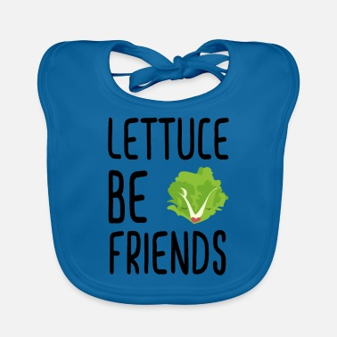 Lettuce Be Friends #lettuce #illustration #veggie - Slabbetje