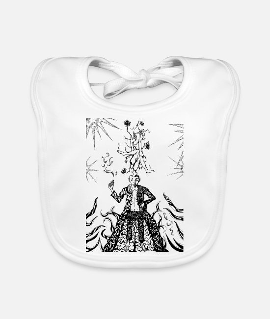 Pop Baby Bibs - Sun - Clear - Baby Bib white