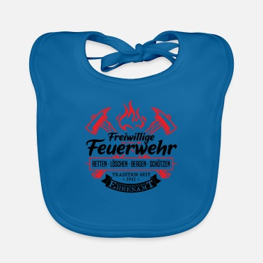 Recovery Volunteer fire brigade tradition volunteering gift - Baby Bib