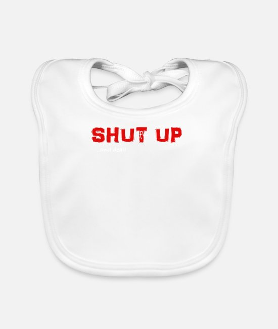 Vegas Baby Clothes - Shuffle up and deal! Poker T-Shirt - Baby Bib white