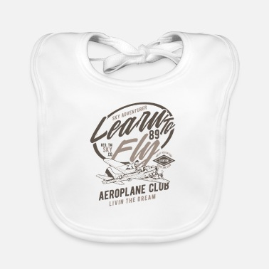 Learn To Fly Learn To Fly Airplane Club - Learn to fly - Baby Bib