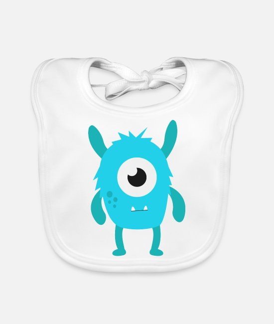 Clip Art Baby Bibs - monster - Baby Bib white