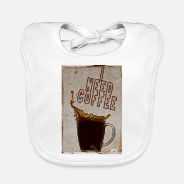 Perk I need coffee - Baby Bib