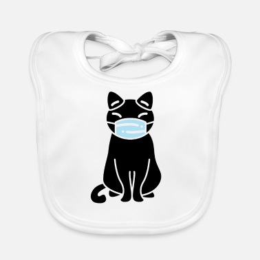 Black Jack Cat Mask - Baby Bib