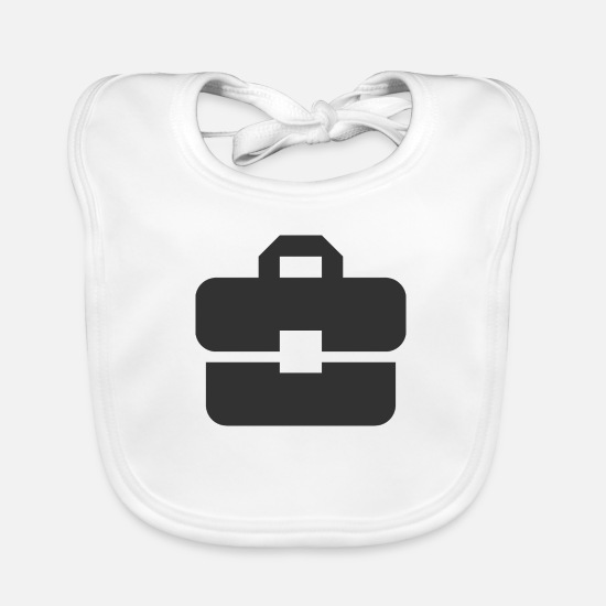 Gift Idea Baby Clothes - Suitcase Business | Black | gift idea - Baby Bib white
