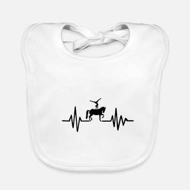 Equitation Heartbeat Vaulting Equestrian Equitation - Baby Bib