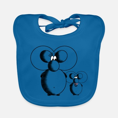 Baby Mouse Mouse Mommy & Baby - Baby Bib