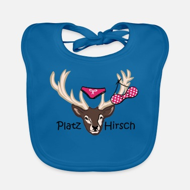 Stag Underwear Square deer gift idea macho birthday - Baby Bib