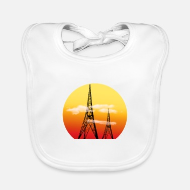 Radio Tower Radio Towers - Baby Bib