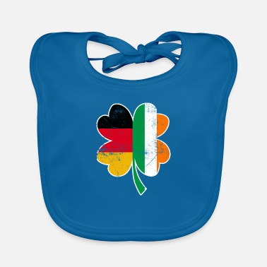 Half German - half Irish St. Patrick's day clover - Baby Bib