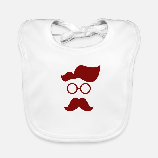 Animal Baby Clothes - Hipster red - Baby Bib white