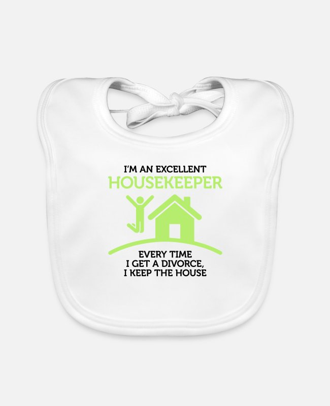 Money Baby Bibs - I am a great housekeeper! - Baby Bib white