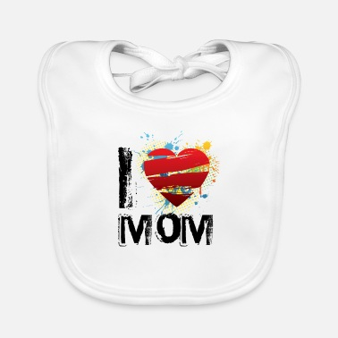 I Love I love mom uk - Baby Bib